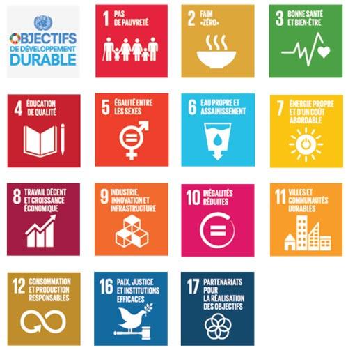 14 des 17 objectifs de développement durable