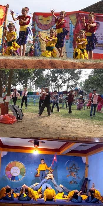 Sri Aurobindo Yoga Mandir - Ashrams éducatifs au Népal - Images de Danse, Yoga et Kunf Fu
