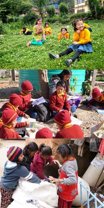 Sri Aurobindo Yoga Mandir - 3 scènes de vie dans l'ashram - Cueillette, classe et tri des déchets